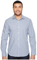 Nautica Long Sleeve Wrinkle Resistant Small Plaid Men's Long Sleeve Button Up
