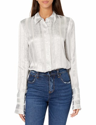 Ramy Brook Women's Lacey Long Sleeve Button Down Top