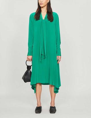 Joseph Alisson asymmetric silk-crepe midi dress