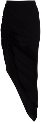 Helmut Lang Ruched Asymmetrical Skirt