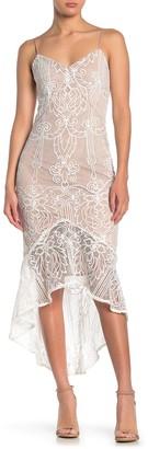 Do & Be V-Neck Sleeveless Lace Mermaid Dress