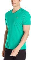 Lacoste Men's Short Sleeve V Neck Pima Jersey Tee Shirt