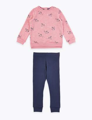 Marks and Spencer Unicorn Print Top & Bottom Outfit (3 Months - 7 Years)