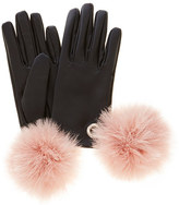 Coast Tina Leather Pom Pom Glove