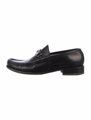 Gucci Horsebit Leather Leather Loafers Black