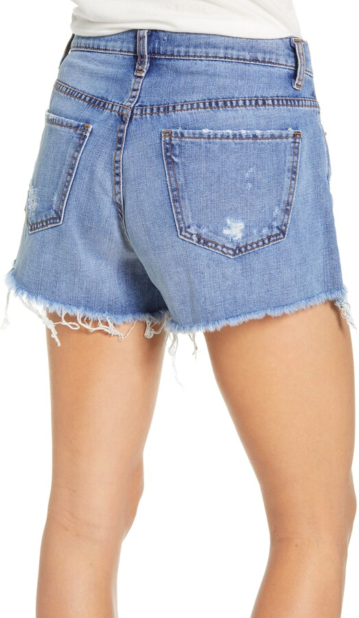 Thumbnail for your product : STS Blue Ripped High Waist Denim Shorts