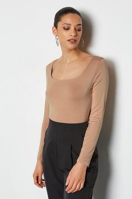 Karen Millen Square Neck Long Sleeve Body