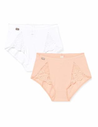 Playtex Women's Cotton & Lace Midi 2 Pack Full Slip