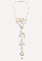 Bebe Crystal Linear Necklace