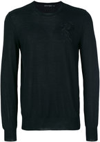 Alexander McQueen winged lion embroidered jumper - men - Silk/Wool - S