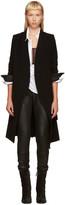 Ann Demeulemeester Black Sheridan Coat