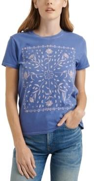 Lucky Brand Framed Bandana Graphic T-Shirt
