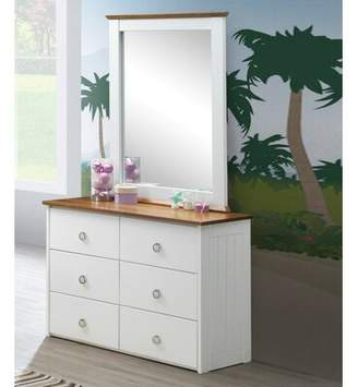 Isa Belle Lasater 6 Drawer Double Dresser with Mirror Isabelle & Max