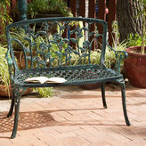 Asstd National Brand Saint Kitts Outdoor Cast Aluminum Patio Bench