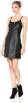 MinkPink Women's Frankie PU Leather Mini Dress