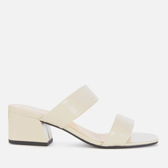 Vagabond Women's Elena Patent Leather Heeled Mules - Off White