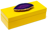 Mapleton Drive Small Lacquer Box with Stone