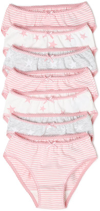 Marks and Spencer 7 Pack Cotton Star Knickers (2-16 Yrs)