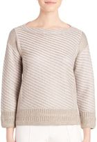 St. John Three-Quarter Sleeve Knitted Sweater