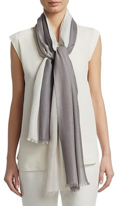 Loro Piana Mini Aylit Two-Tone Cashmere & Silk Scarf