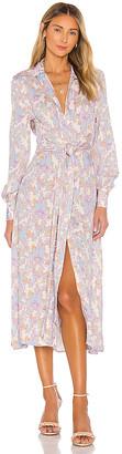 Rebecca Vallance Fleur Midi Shirt Dres