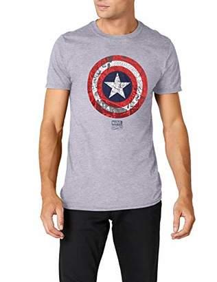 Marvel Men's Ca Comic Shield T-Shirt,Large