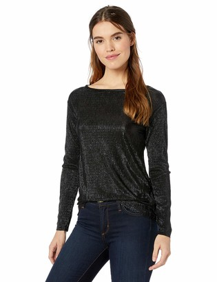 Three Dots Women's LU2808 Lurex Bateau L/S TOP