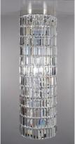 Impex Crystal Art Chandelier Ceiling Light, Clear/Nickel