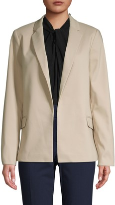 Calvin Klein Collection Notch Collar Open-Front Jacket
