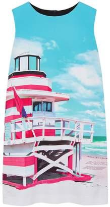 Moschino Beach-print Mini Dress