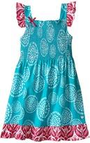 Hatley Tropical Ocean Smocked Dress (Toddler/Little Kids/Big Kids)