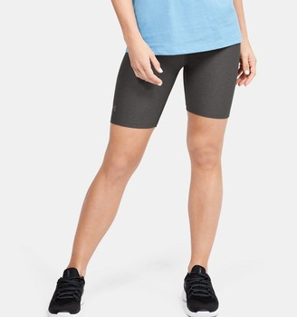 Under Armour Womens Hg Printed Shorty Shorts Peach Grey UK S Small RRP £30