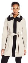 Ivanka Trump Women's Multi-Color Belted Trench Coat with Oversized Collar