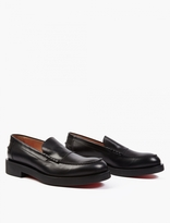 Paul Smith Black Leather 'shipton' Loafers