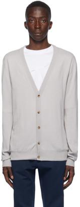 Maison Margiela Grey Wool Elbow Patch Cardigan