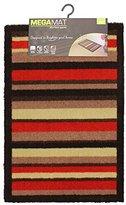 JVL Mega Mat Highly Absorbent Machine Washable Door Mat, Stripes, Multi-colour, 50 x 75 x 1.5 cm