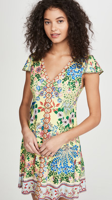 Alice + Olivia Hadley Button Fit Flare Dress