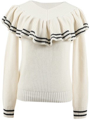 Self-Portrait Self Portrait Beige Wool Knitwear