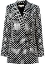 MICHAEL Michael Kors houndstooth jacket - women - Polyester/Spandex/Elastane - 4