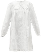 Vita Kin - Daisy Lace-trimmed Linen Dress - Womens - White