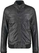 Mustang Robson Leather Jacket Vintage Black