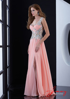 Jasz Couture - 5419 Dress in Coral
