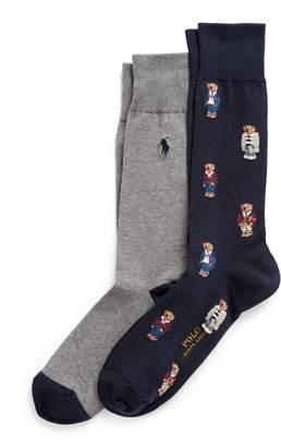Ralph Lauren Polo Bear Dress Sock 2-Pack