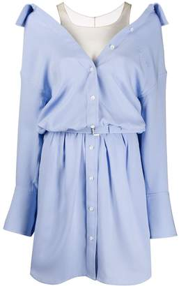 Alexander Wang Open-Collar Shirt Dress