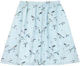 Cath Kidston Seagull Check Cotton Sateen Skirt