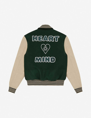Billionaire Boys Club Heart & Mind striped-trim felt bomber jacket