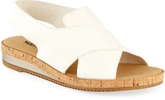 Sesto Meucci Sabita Demi-Wedge Flat Sandals, White