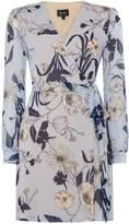Bardot Floral V Neck Long Sleeved Dress