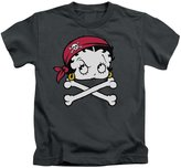 Betty Boop Cartoon Pirate Little Boys T-Shirt Tee