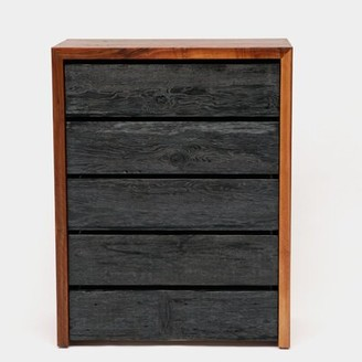 Artless SQR 5 Drawer Chest Color: Solid Walnut and Reclaimed Wood